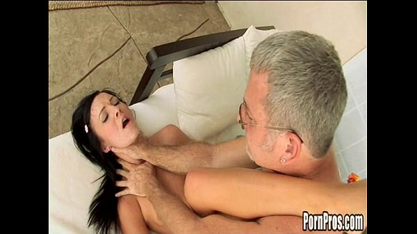 Horny young flirt seduces oldest poolboy in the world