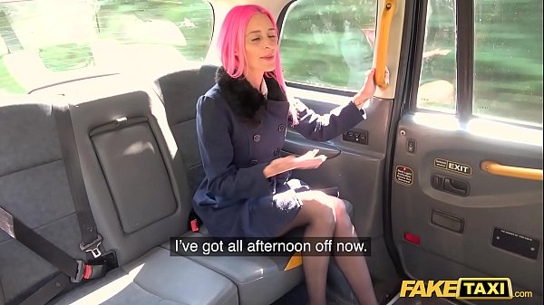 Fake Taxi Pink Haired Roxy Lace Fucks a Huge White Cock Thumb