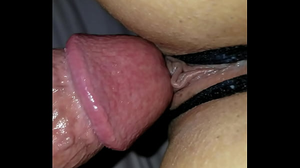 Crotchless panties cum wet fuck