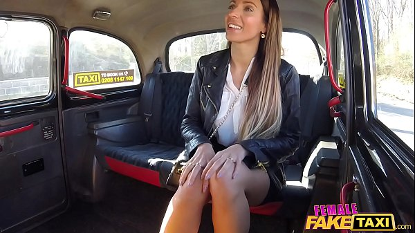 Female Fake Taxi Cherry Kiss lesbian sex with long haired brunette Thumb