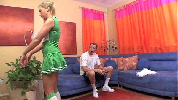 Hot Cheerleader Fucks A Huge Cock