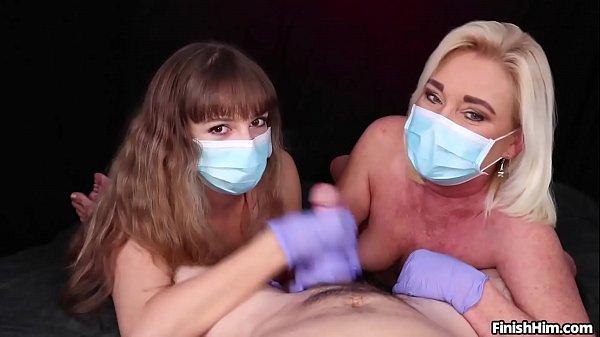 סרטון פורנו Masked Cock Milking POV Handjob with Teen and MILF – FinishHim