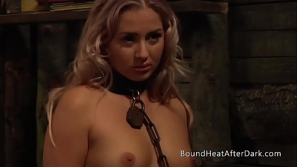 Young Blonde Lesbian Slave Dominated By Madame And Maid