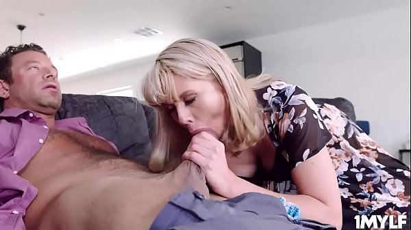 Cheating housewife Amber Chase sucking a huge cock and getting her milf pussy pounded