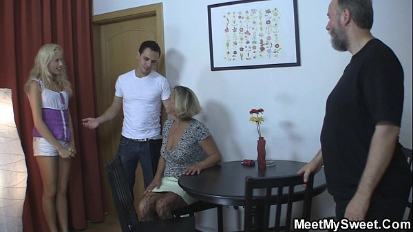 Czech blonde involved into family threesome  thumbnail