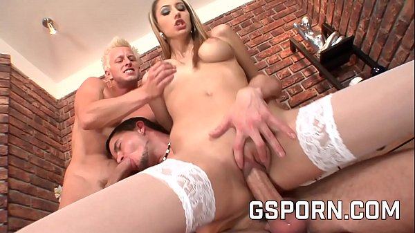 Two bisexuls guys fucking hard a sexy slut