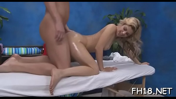 Hawt 18 year old beauty gets fucked hard from behind by her massage therapist