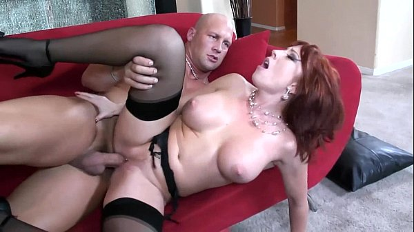 Big boobed redhead fucking in thigh high nylons Thumb