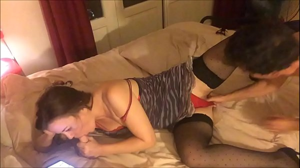 T&A 586 - White Bitch in Zebra Dress, Stockings & Heels
