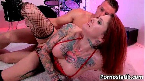Redhead tattoo chick gets fucked