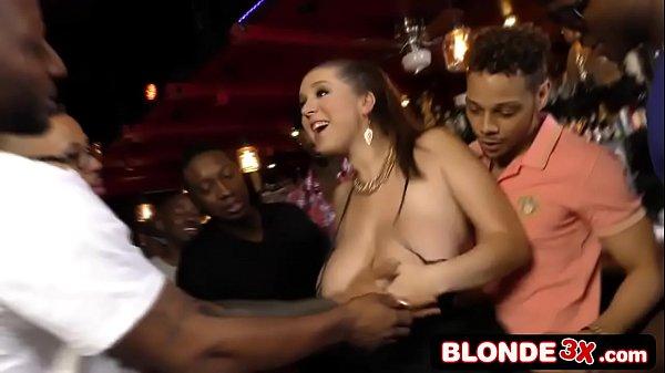 Busty Bar Maid Ass-Banged By a Black Gang (Alex...