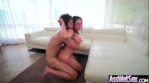 (Angela White) Big Butt Oiled Girl Love Deep Anal Sex clip-08