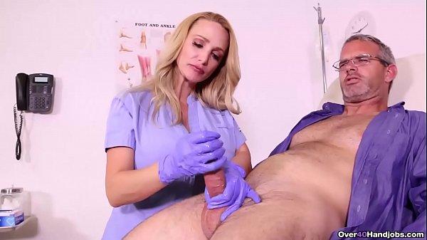 BUSTY Nurse MILKS her patient - Over 40 Handjob Thumb