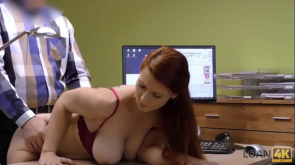 LOAN4K. Sex for cash is the best business strategy of buxom redhead Thumb