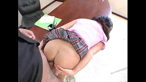 horny latina teen getting fucked hard for grades  thumbnail