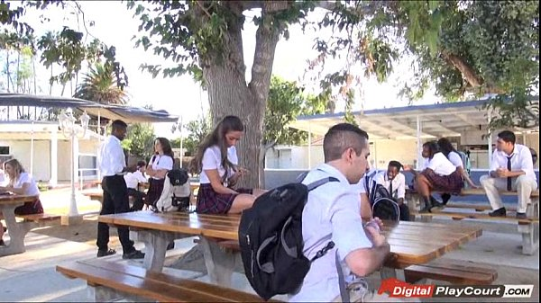 Teen cassidy klein sucking on schoolyard