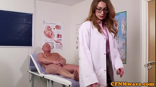 CFNM doctor babe teaches nurses how to suck Thumb