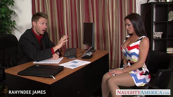 Babe in pantyhose Rahyndee James gets facialized Thumb