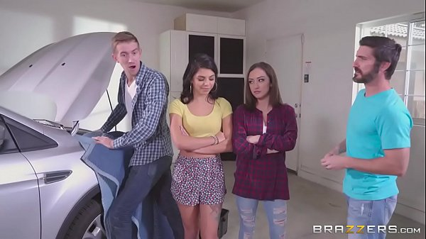 Brazzers - Step sisters share cock behind dads back Thumb
