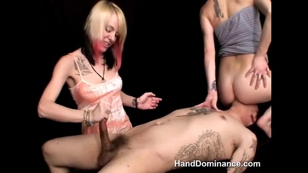 Bound & Wanked By Two Girls
