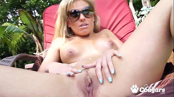 Aubrey Adams Gets Fucked In The Backyard While A Peeping Tom Watches