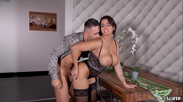 Busty lovers Chloé Lamour titty fucked and wet ...