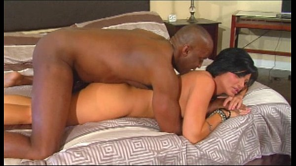 Black milf gets double cock