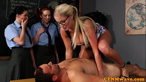CFNM sex education from the teacher for eager girls Thumb