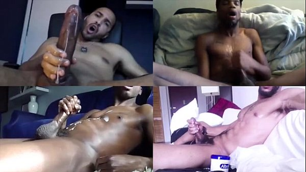 Black Solo Male Cumshot