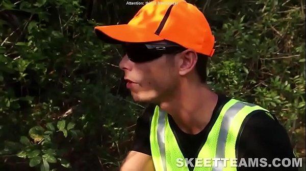 Ebony teen fucked by redneck hunter