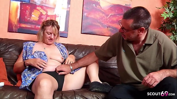 German Wife catch old Husband Fuck the Maid and Join 3Some