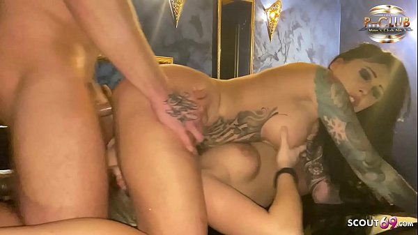 Real German Whore Snowwhite at FFM Threesome in Brothel
