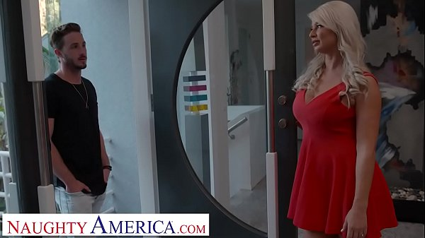 Naughty America London River fucks son's friend before interview