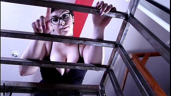 Slave Locked in Cage POV