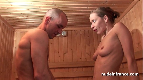 Horny blonde hard anal fucked while getting her pussy shaved in a sauna Thumb
