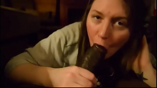 Thick ass and big tits white girl sucking black cock