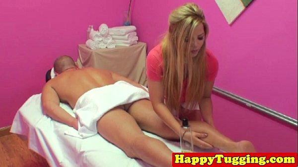 Blonde asian handjob masseuse