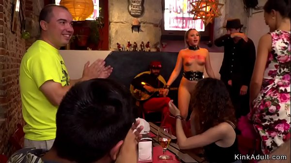 Blonde anal fucked in crowded public bar Thumb