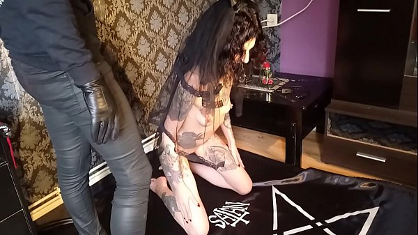 satanic slave girl fucked for lucifer by the masked death