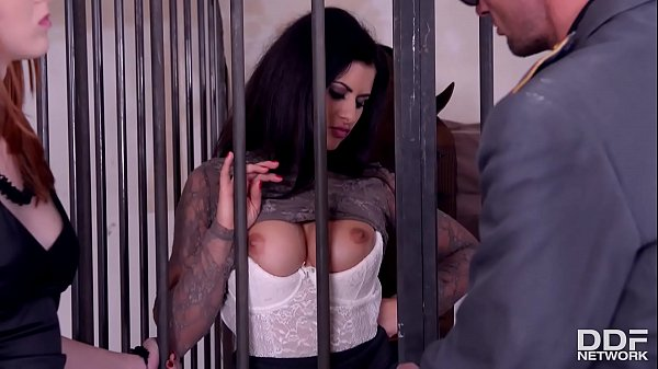 Luxury Hookers Billie Star & Linda Sweet are served Anal Sex in Prison Thumb