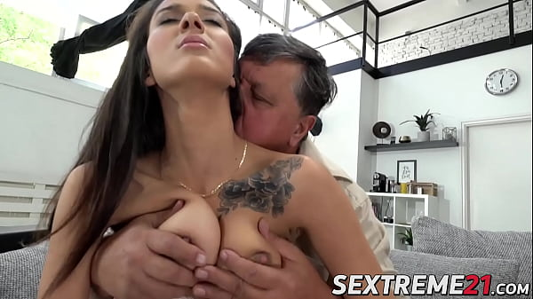 Nubile Darcia Lee fondled before old vs young sex
