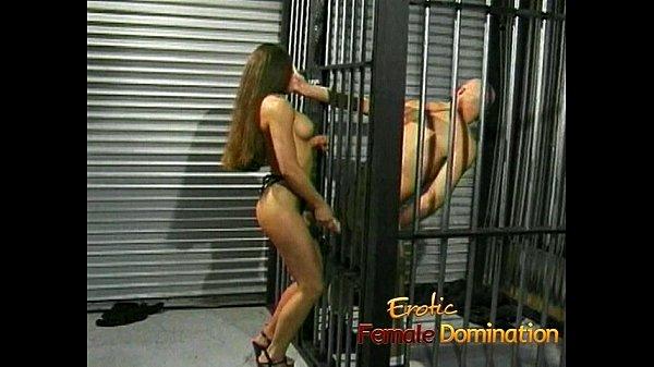Slutty brunette playgirl gets to fuck her kinky prisoner hard Thumb