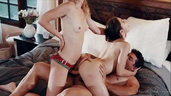 Abella Danger fuck husband and wife in double vaginal strapon threesome