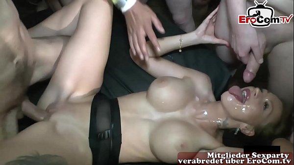 20 Guy cum in one girl - all cum inside creampie gangbang Thumb