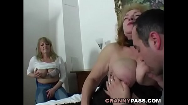 Chubby Granny Share Young Cock With Her Friend Thumb