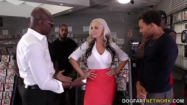 Alena Croft's First Anal Gangbang