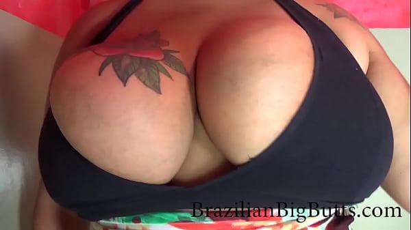 BrazilianBigButts.com busty slut takes a monstrous facial Thumb