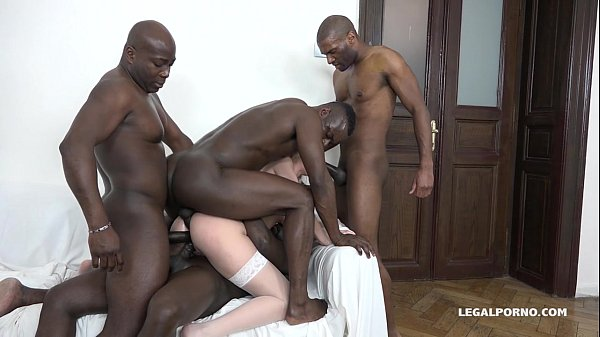 Luna Melba is back to test 4 Big Black Cocks - Does she get what she wants? Thumb