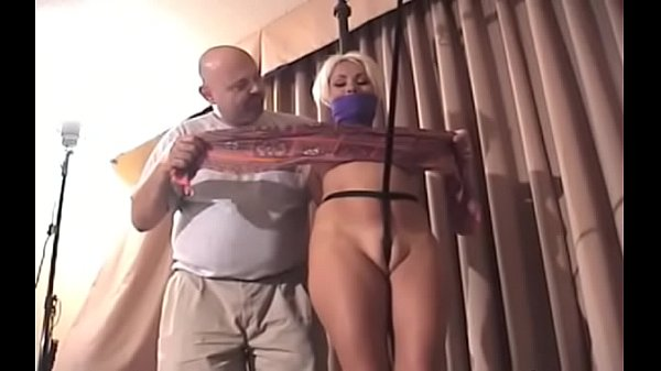 Ballgagged and unable to move, this slut gets stimulated Thumb