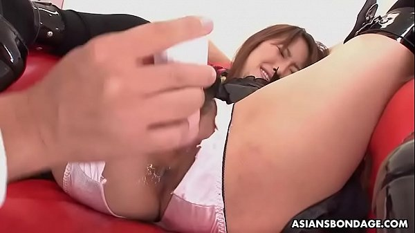 Mana Aoki got tied up and fucked harder than ever